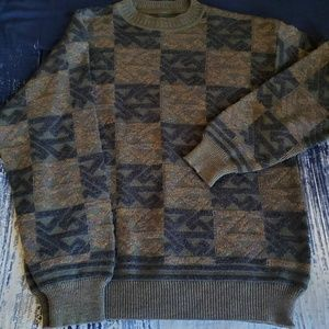 Crazy Patterned Wool Sweater -- No brand! L-XL